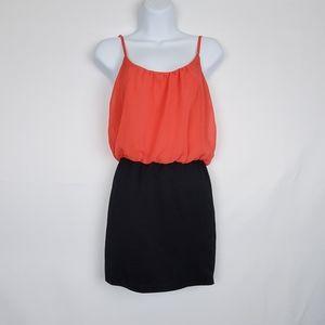 Wet Seal Orange/Black Sleeveless Dress S